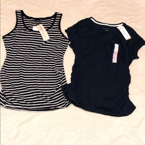 2 New With Tags Maternity Tops Size Large